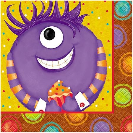 Party Monsters Beverage Napkins, 16pk
