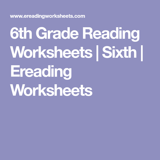6th Grade Reading Worksheets Sixth Ereading Worksheets Reading Worksheets 6th Grade Reading 5th Grade Reading This is the first grade reading worksheets section. pinterest