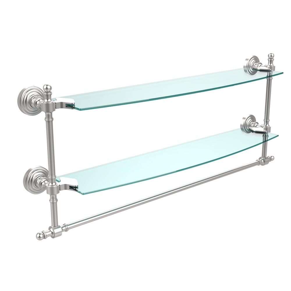 Allied Brass Retro Wave Collection 24 in. Two Tiered Glass Shelf ...