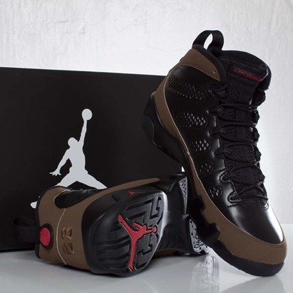 b507820e3e5 Air Jordan 9 Retro- Black, Varsity Red, and Light Olive | Shoes ...