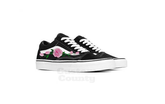 13cb02eced Floral Vans shoes