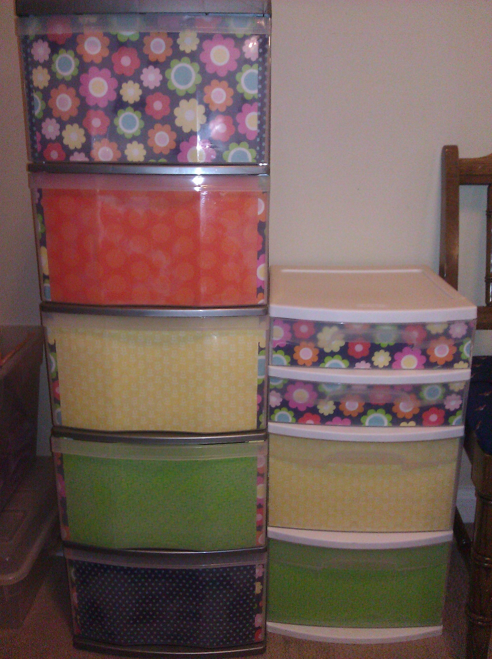 Decoupage plastic drawers to make your \u0027storage\u0027 look a