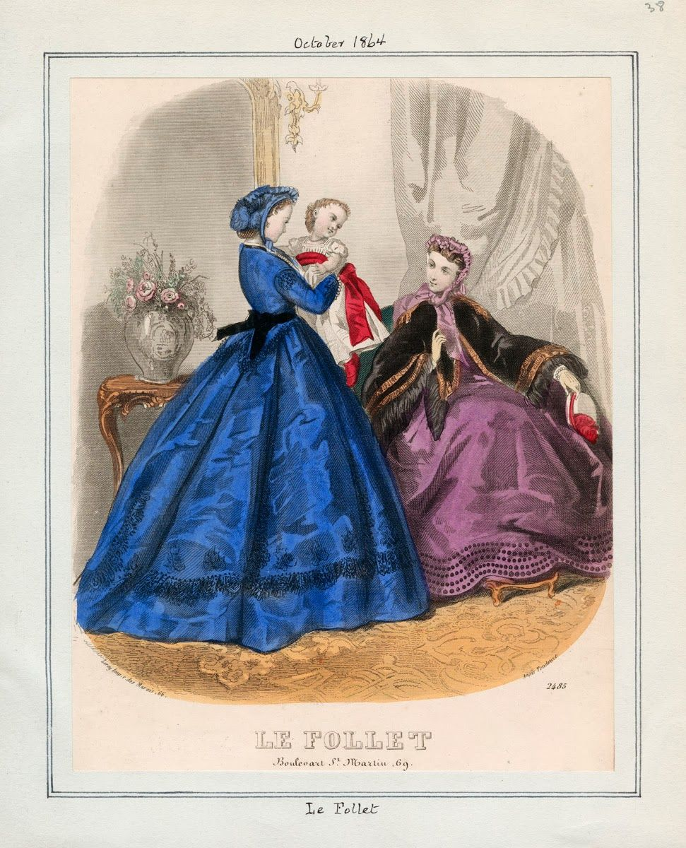 October, 1864 - Le Follet | Fashion-Plates 1860-1869 | Pinterest ...