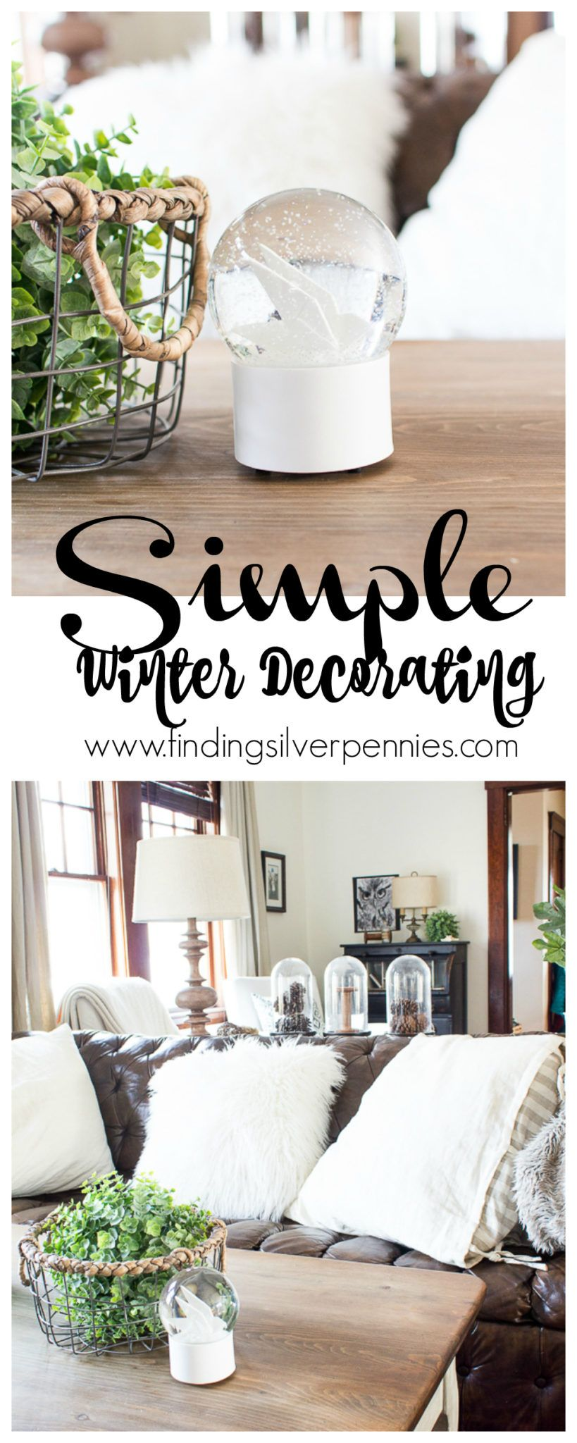 Simple Winter Decorating & a Change | Budgeting, Funky junk and ...