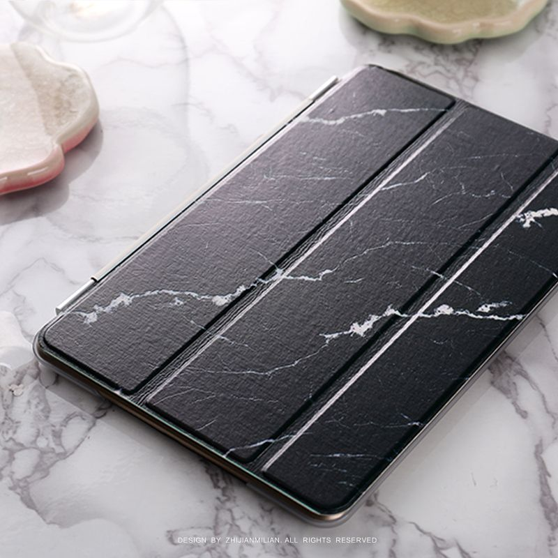 Black Marble Flip Cover For Ipad Pro 9 7 Air Air2 Mini 1 2 3 4 Tablet Case Protective Shell Tablet Case Ipad Cover Ipad