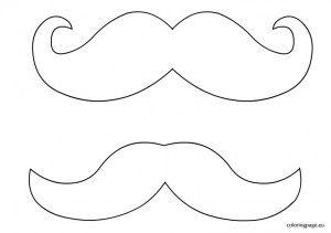 moustache template başlık ve maske