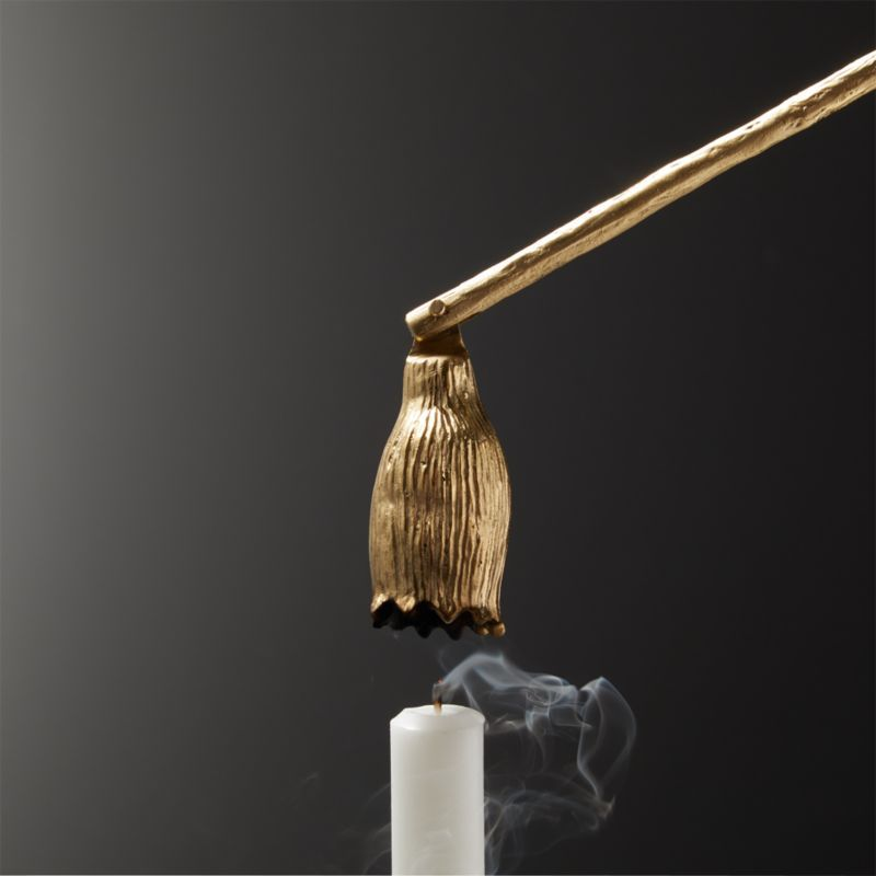 Decorative Candle Snuffer with Stylish Silver Finish Big Living Bell Shape