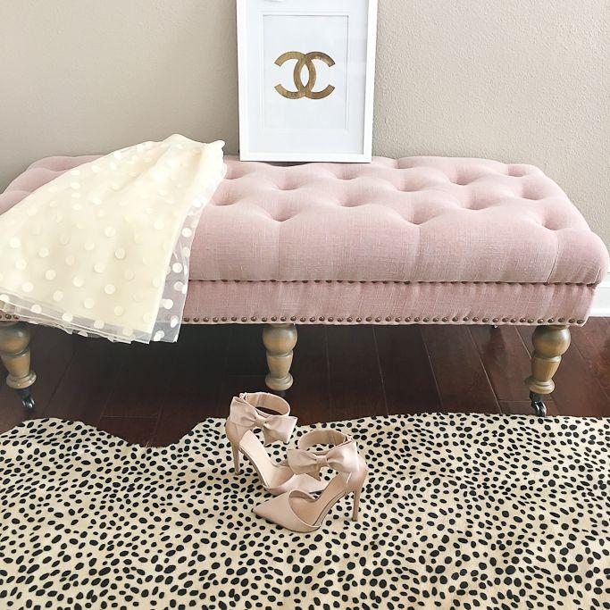 Blush Pink Bow Heels, Chanel Logo Print, Cheetah Leopard