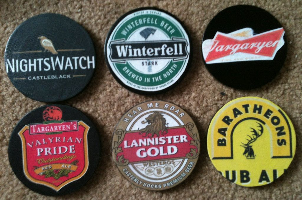 Item of the Day Game of Thrones Coasters Game of