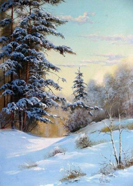 34+ Ideas For Painting Landscape Art #winterlandscape