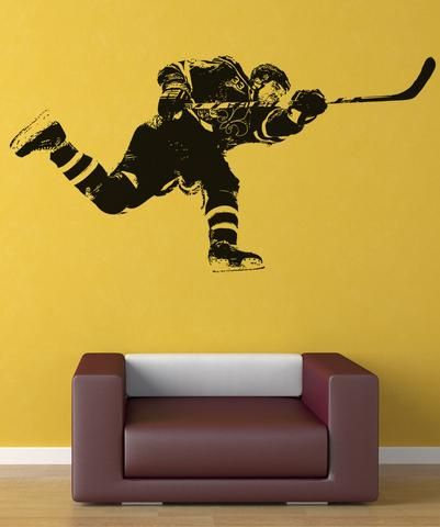 Vinyl Wall Decal Sticker Hockey Slap Shot #5089 | Slap shot, Wall ...