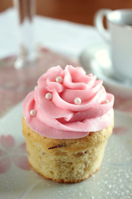 Vanilla Almond Cupcakes.  This will happen soon...