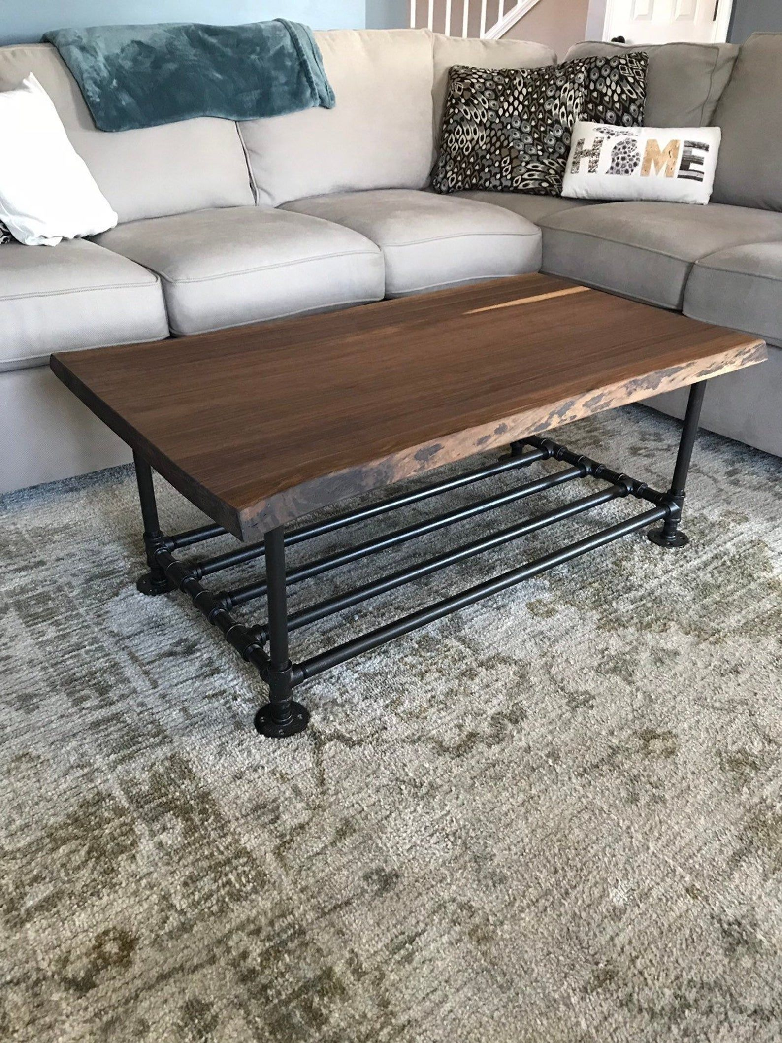 Live Edge Walnut Coffee Table Etsy Coffee Table Walnut Coffee Table Table [ 2117 x 1588 Pixel ]