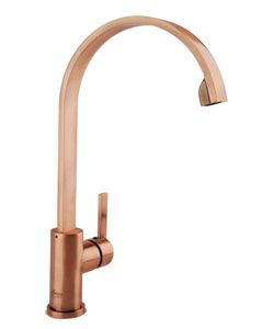 Modern Antique Copper Single Handle Kitchen Faucet | Overstock.com ...