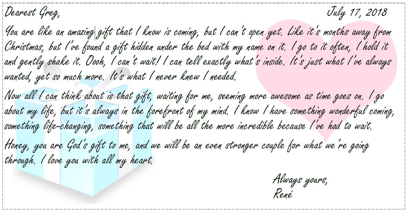 I Wrote This Letter For My Fiance Doing A Year In Prison It S So