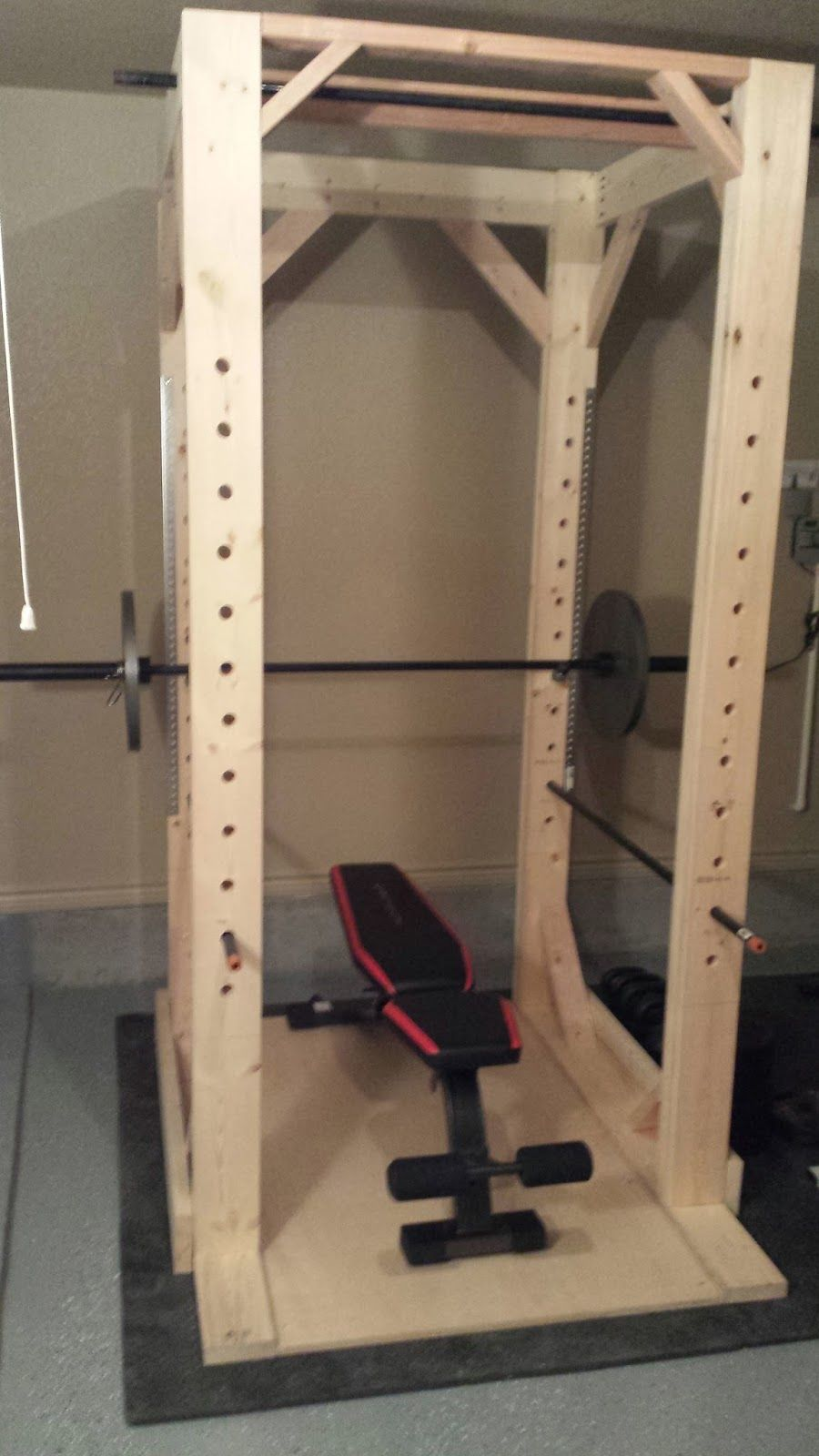 Completed Easy To Build Diy Power Rack One Of The Most