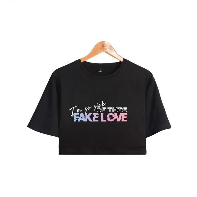 c98fb9a5bf29 BTS Crop Top Fake Love in 2019 | BTS Fashion Clothing | Bts clothing ...