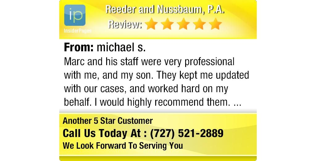 Marc And His Staff Were Very Professional With Me And My Son