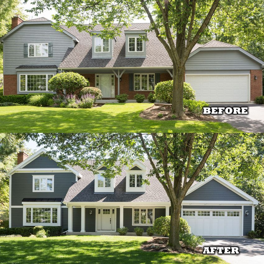 Before and after using james hardie siding outdoor for Before and after exterior home makeovers