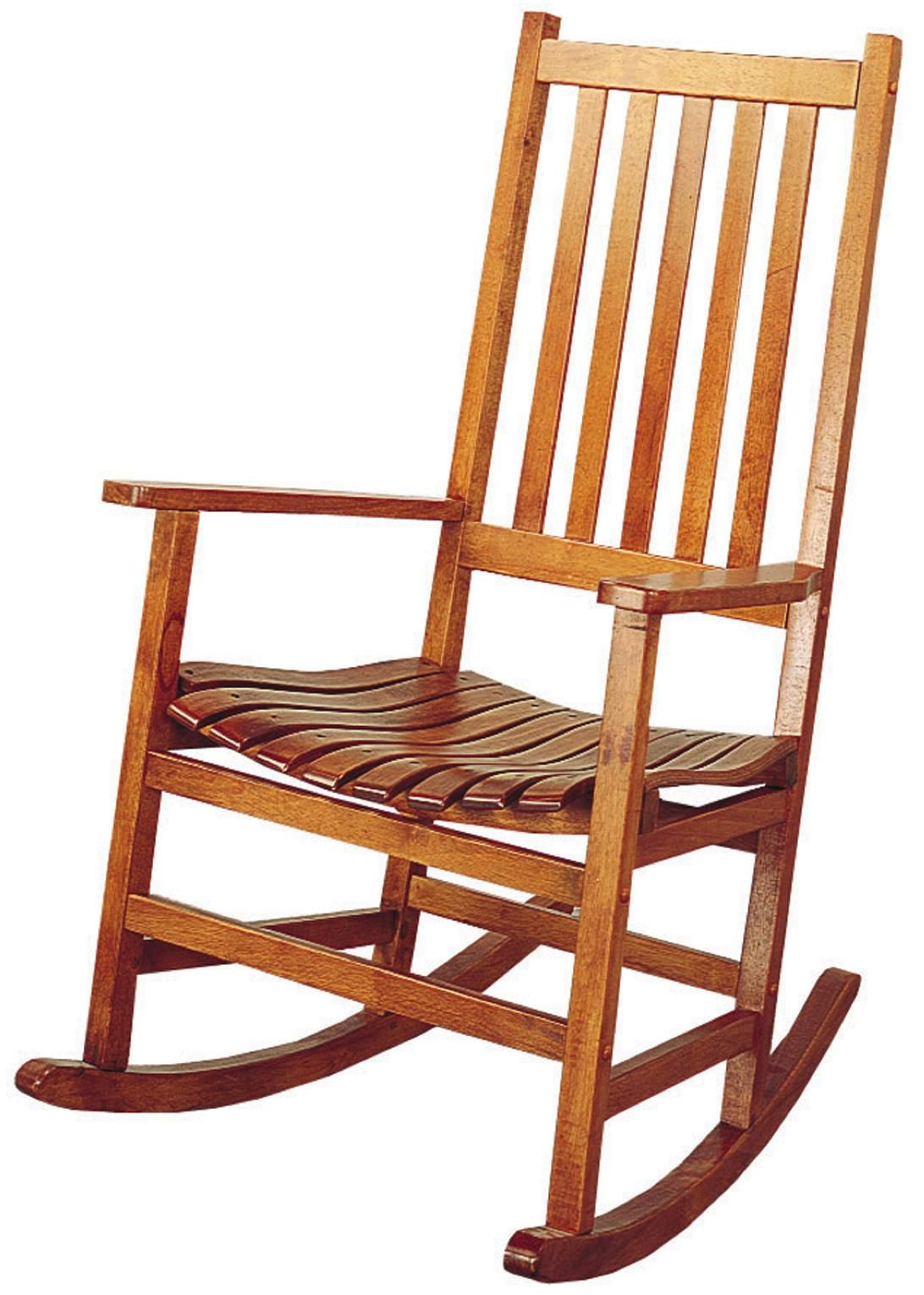 Casual Traditional Wood Rocker Wooden rocking chairs