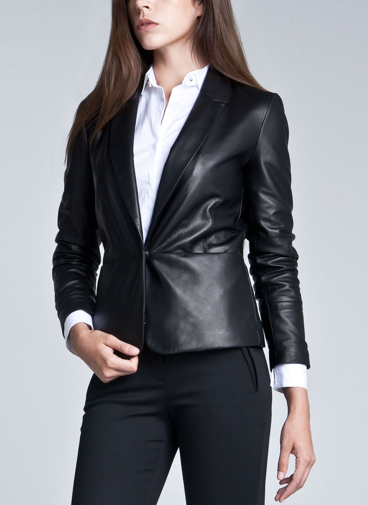 womensleatherblazer8.jpg (1260×1729) Leather blazer