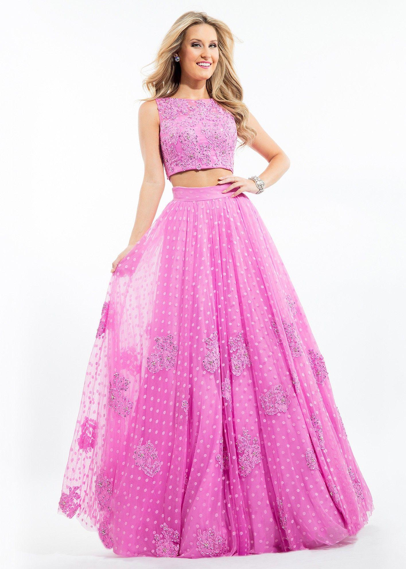 Rachel Allan 7113 Lace Polka Dot 2 Pc Ball Gown Piece Prom Dress Prom Lace Rachel Allan Prom Dresses [ 1982 x 1415 Pixel ]