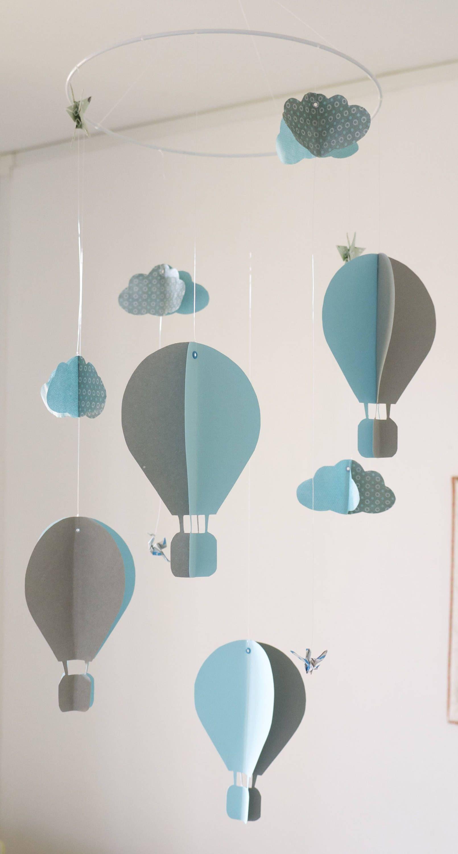 Mobile bébé origami suspension en spirale chambre enfant bébé