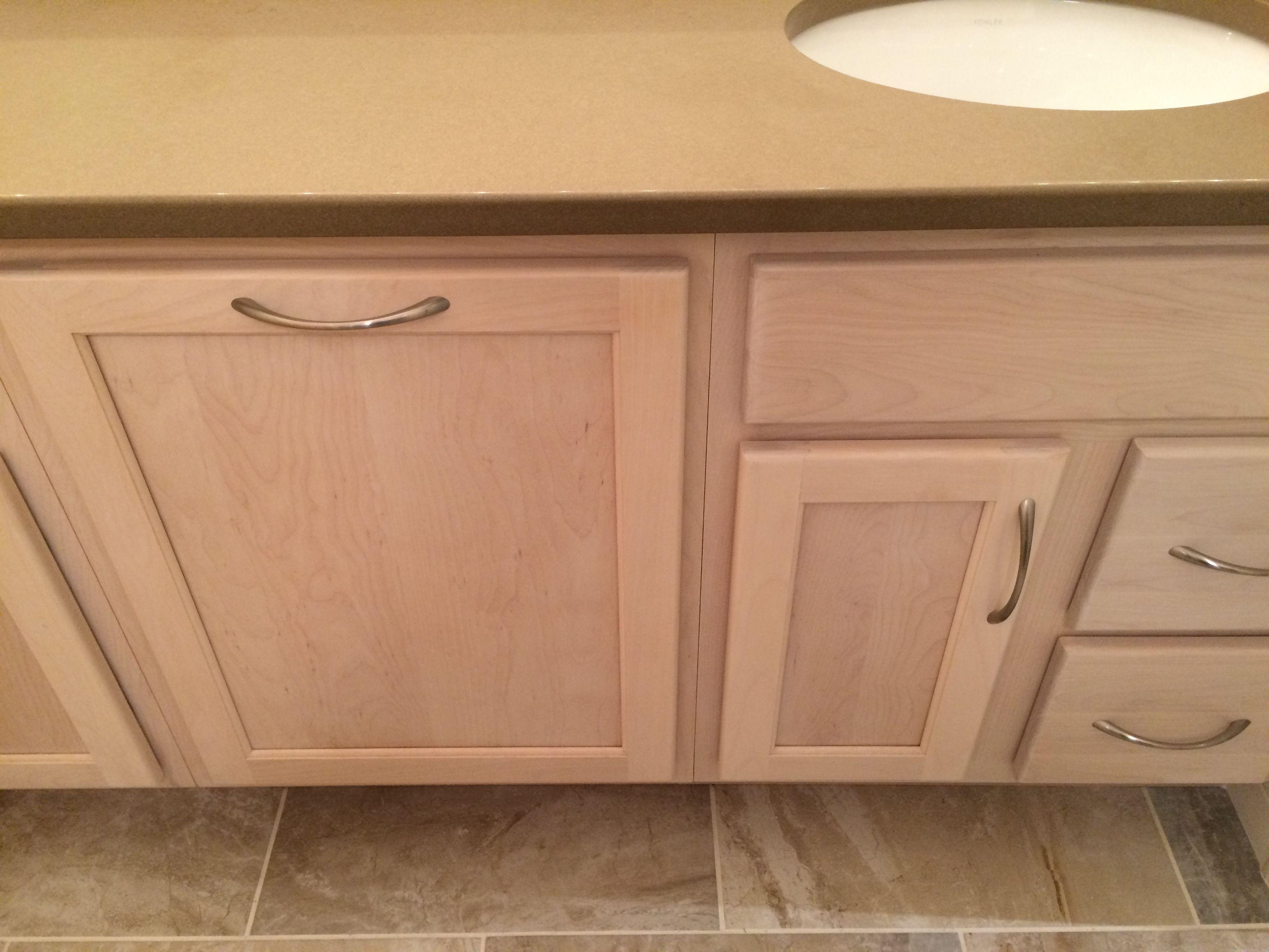 Whitewashed Bathroom Vanity With Hamper Kitchen Bath Design