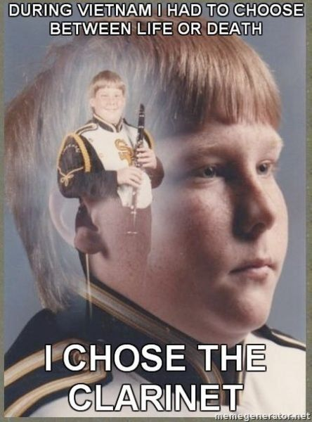 bootstraps meme ptsd clarinet boy clarinets meme and band jokes