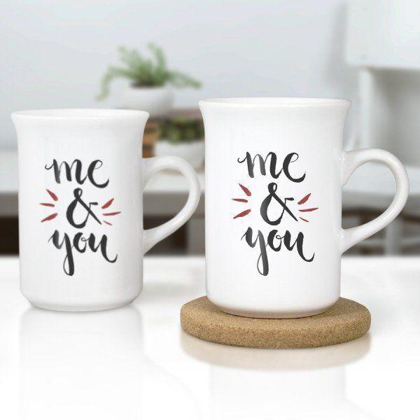 Personalised Me to You Romantic Mug Gift Girlfriend Boyfriend Partner