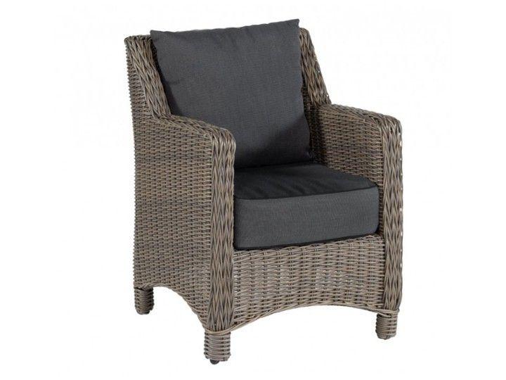VICTORY Garten Sessel Poly Rattan Natur Grau, 2 Stück Hochwertiges  Gartenmöbel Von Exotan Für