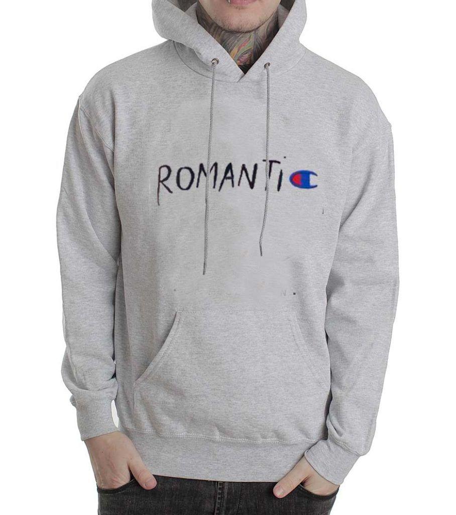 romantic champion parody grey color Hoodies