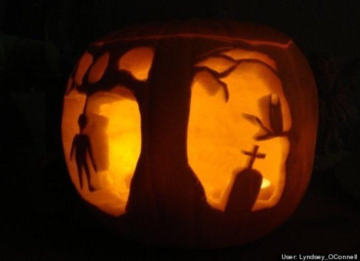 80 id es pour sculpter vos citrouilles hallowen halloween et decoration - Citrouille effrayante ...