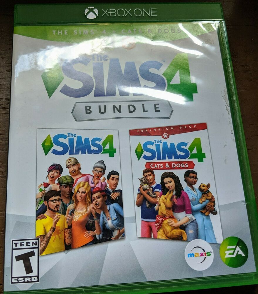 The Sims 4 Cats And Dogs Bundle Xbox One 2018 Played Once Adult Owned Ea Xbox One Sims 4 Dog Cat