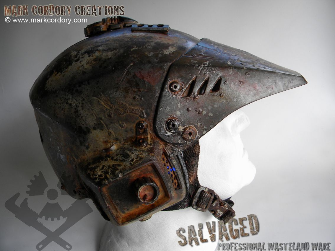 Post Apocalypse armour - helmet by Mark Cordory Creations. Enquiries welcome @ www.markcordory.com