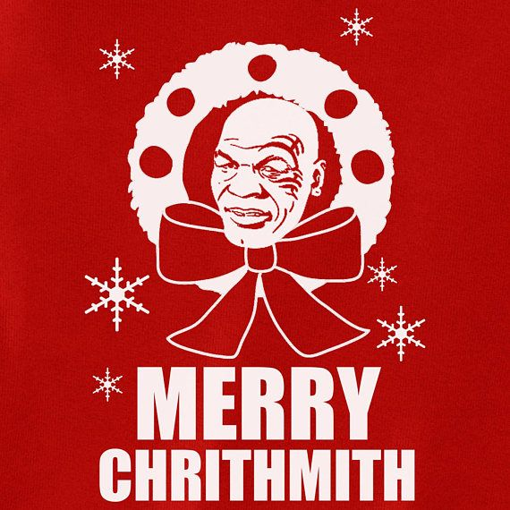 Mike Tyson Ugly Tacky Merry Chrithmith Christmas Happy Hanukkah