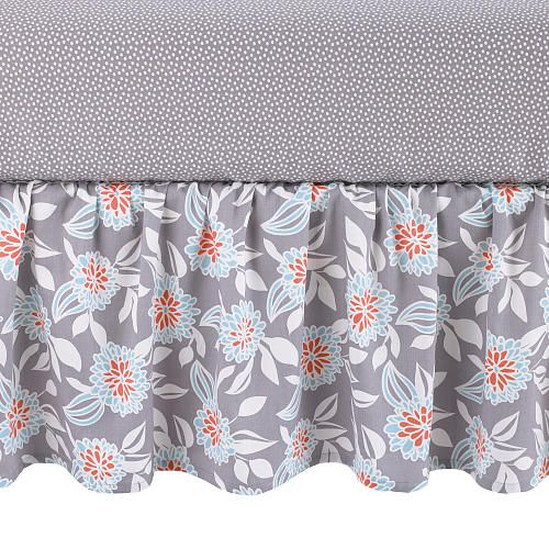 Your Little One Will Love These 8 Gender Neutral Nurseries: Balboa Baby Cotton Sateen Dust Ruffle