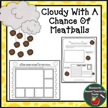 Cloudy With A Chance Of Meatballs Literacy Unit Differentiated