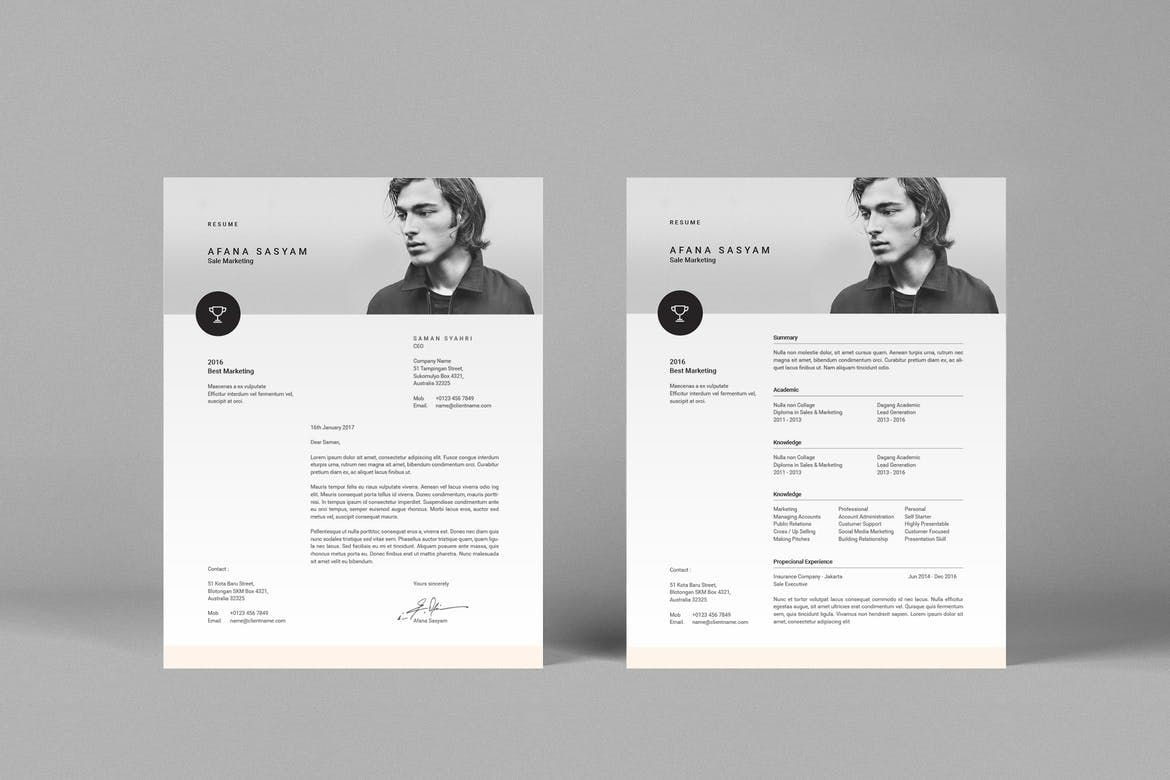 Cover image for resume indesign resume template resume