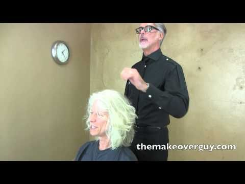 dramatic long hair cut short makeover by christopher makeover 36 pretty gray wavy hair by christopher hopkins