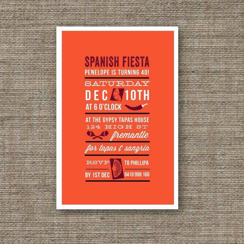Spanish Birthday Party Invitation in 2020 Birthday party