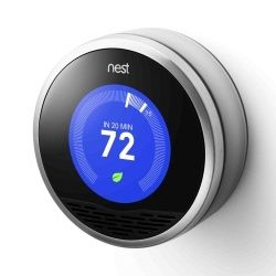 Nest Thermostat-we can control the thermostat from our phones and tablets anywhere (not just…