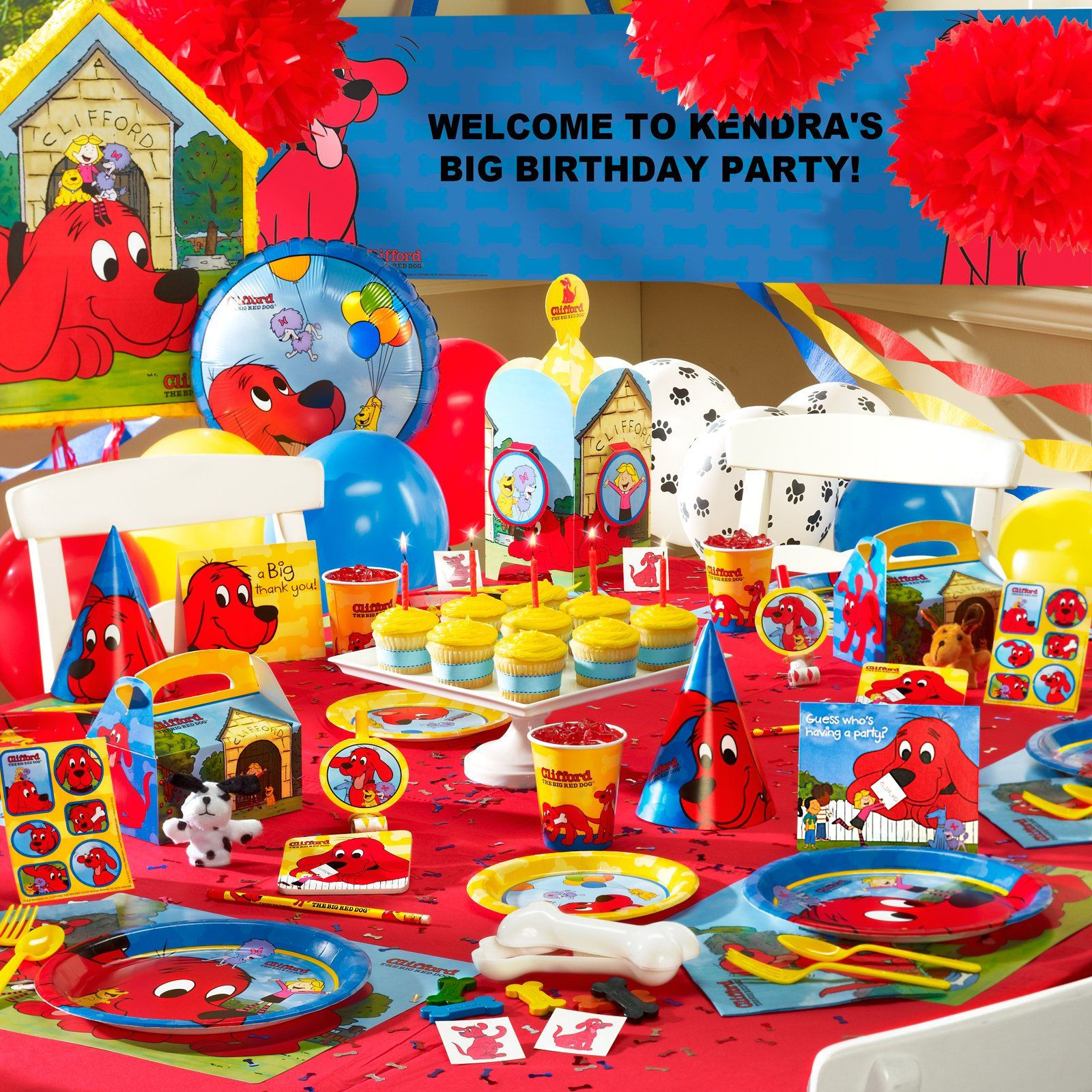 Swell Clifford The Big Red Dog Ultimate Party Pack Dog Birthday Personalised Birthday Cards Petedlily Jamesorg