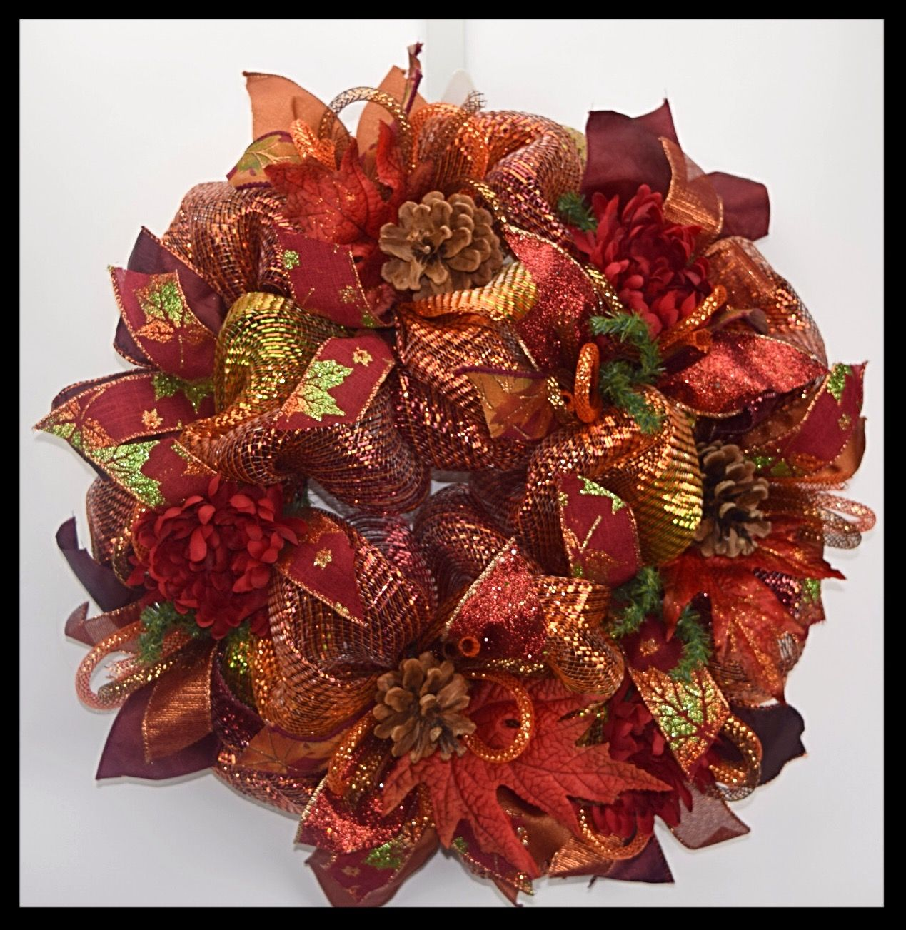 Very Rich Colors in this small Fall Wreath from www