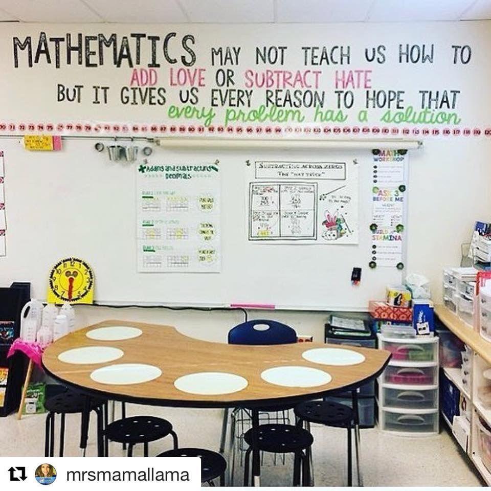 Math classroom quote