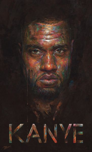 Kanye West In Color Art Print By Sam Spratt I Love This Portrait Painting Art Affordable Art Prints