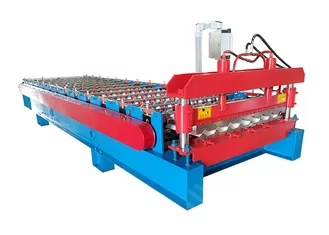 Ppgi Sheet With Ribs Metal Roof Making Machine Special For Custruction Company In 2020 Roll Forming Metal Roof Making Machine