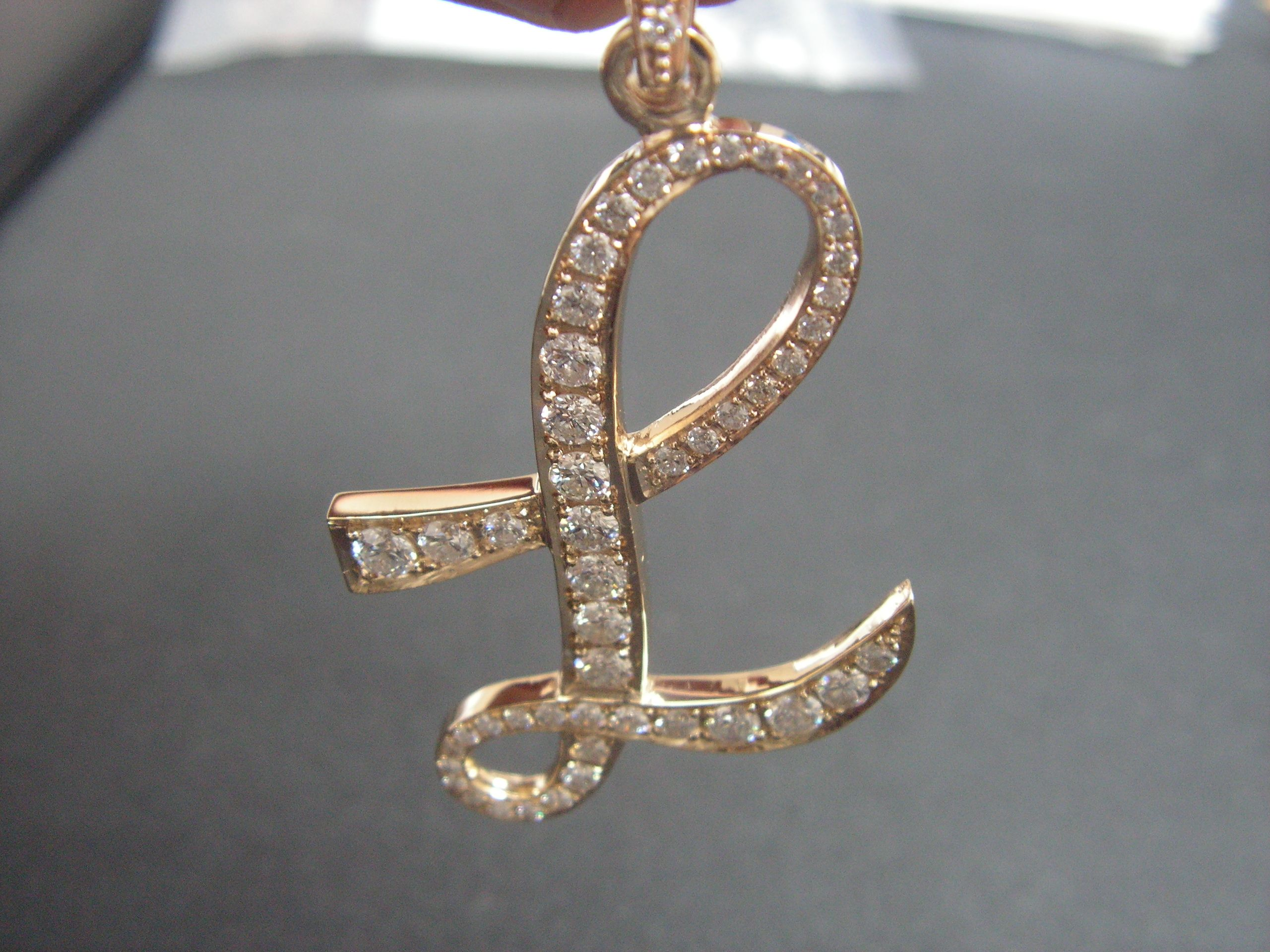 bronze customized letter initial met modern product gold pendant necklace clay minimalist metal stencil custom