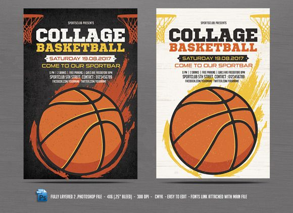 Basketball Flyer Template Flyer Template Template And Vector Shapes