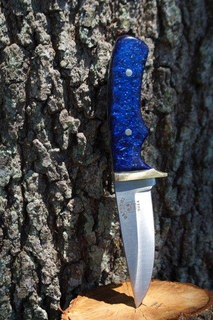 Arctic Blue Kirinite Scales On Stainless Steel Custom